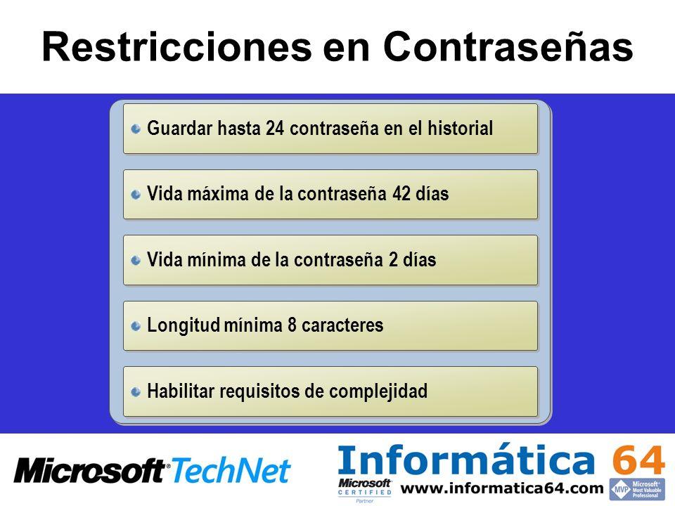 Restricciones en Contraseñas