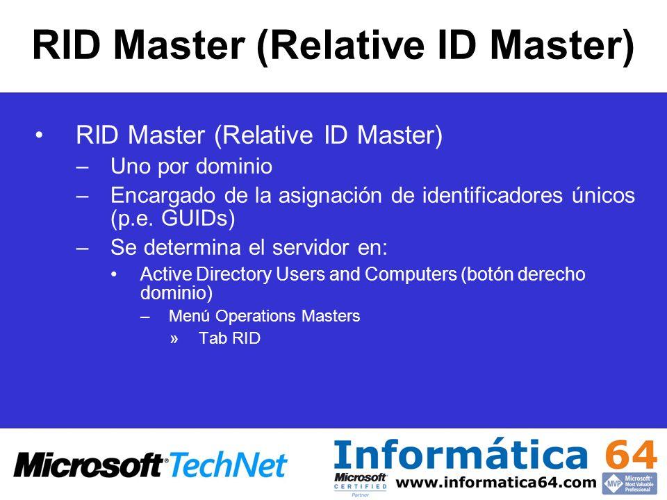 RID Master (Relative ID Master)