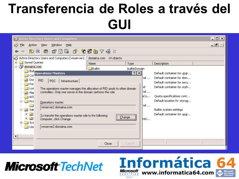 Transferencia de Roles a través del GUI