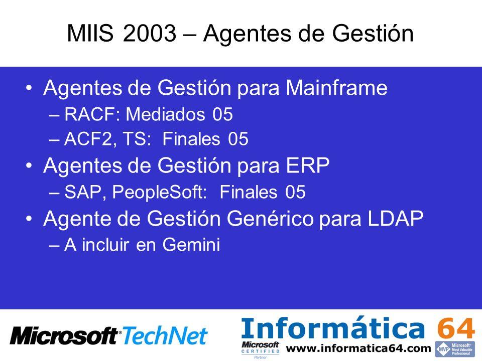 MIIS 2003 – Agentes de Gestión