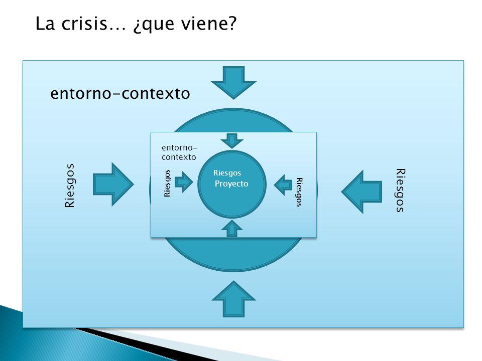La crisis… ¿que viene Proyecto entorno-contexto Riesgos Riesgos