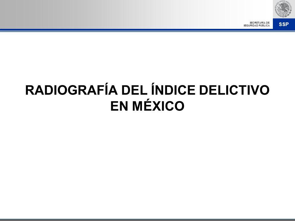 RADIOGRAFÍA DEL ÍNDICE DELICTIVO EN MÉXICO