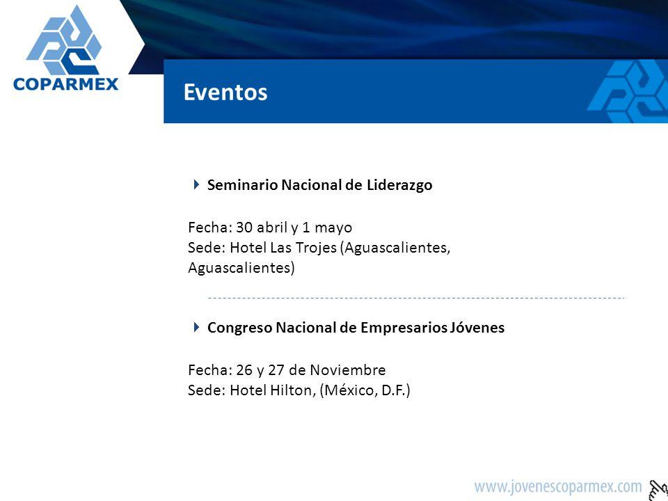Eventos Seminario Nacional de Liderazgo Fecha: 30 abril y 1 mayo