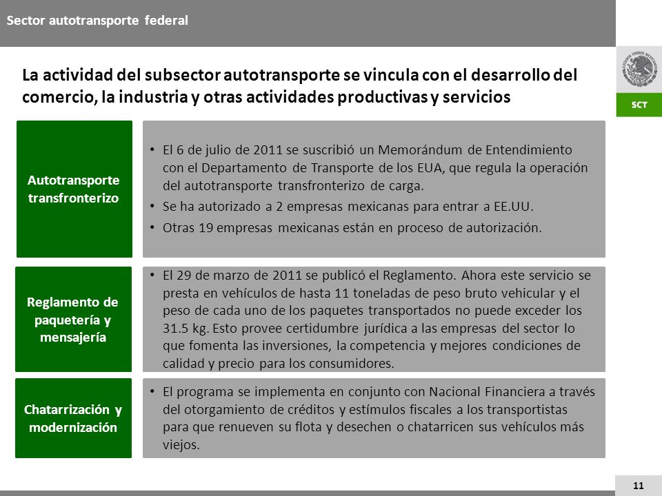 Sector autotransporte federal