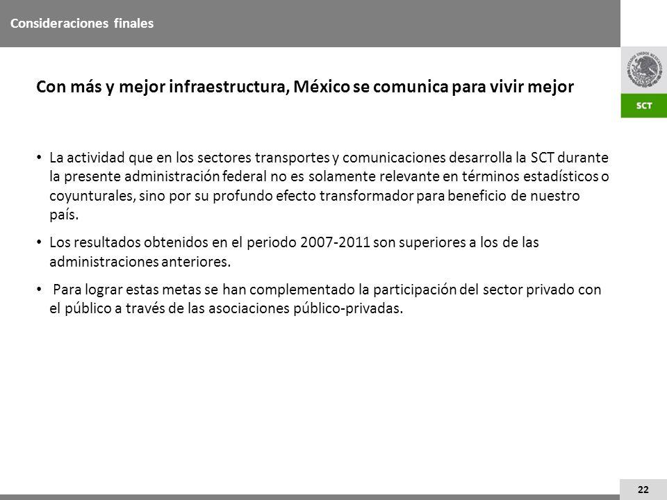 Con más y mejor infraestructura, México se comunica para vivir mejor