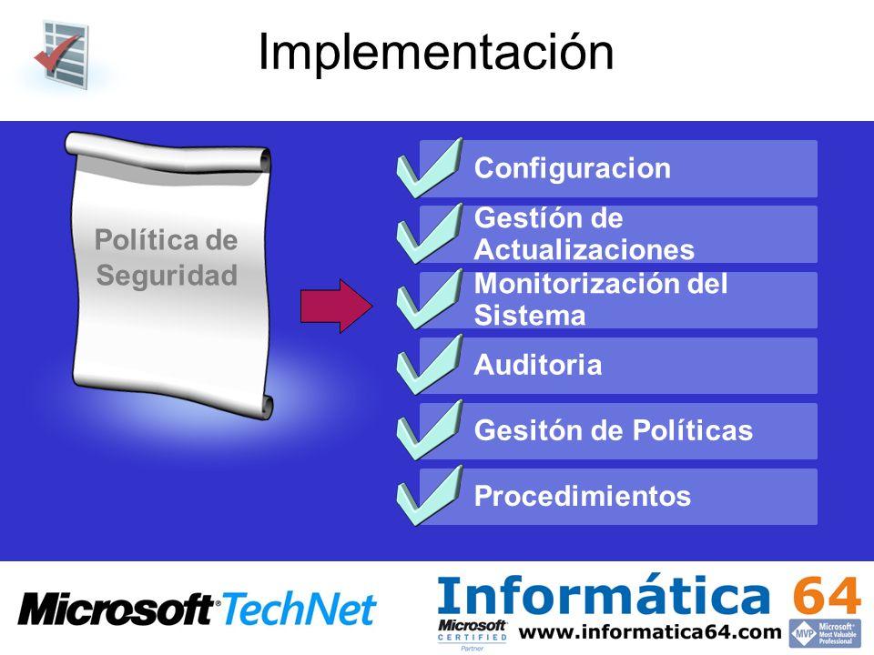 Implementación Configuracion Gestíón de Actualizaciones
