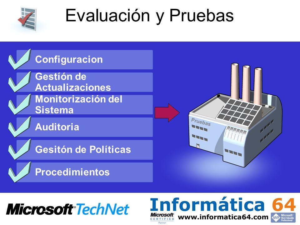 Evaluación y Pruebas Configuracion Gestíón de Actualizaciones