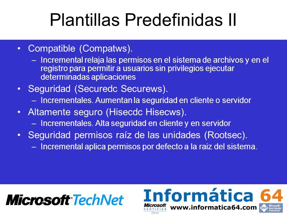 Plantillas Predefinidas II