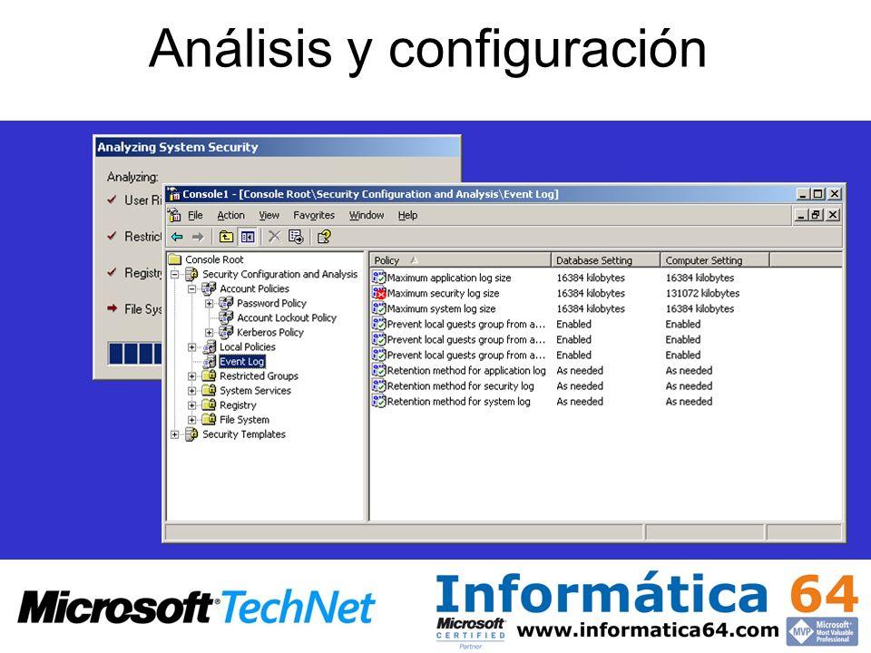 Análisis y configuración