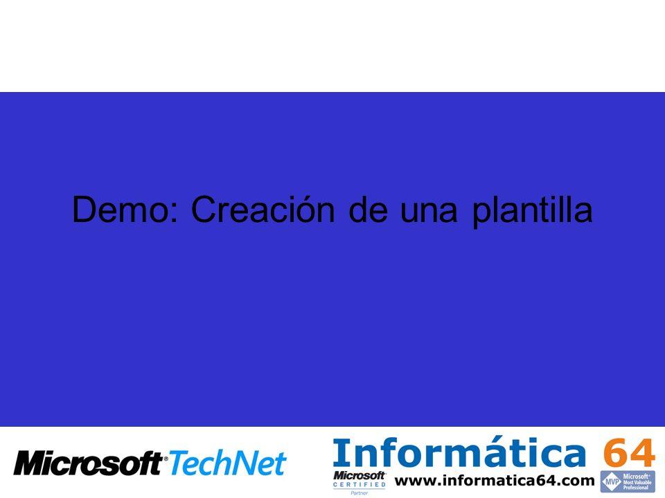 Demo: Creación de una plantilla