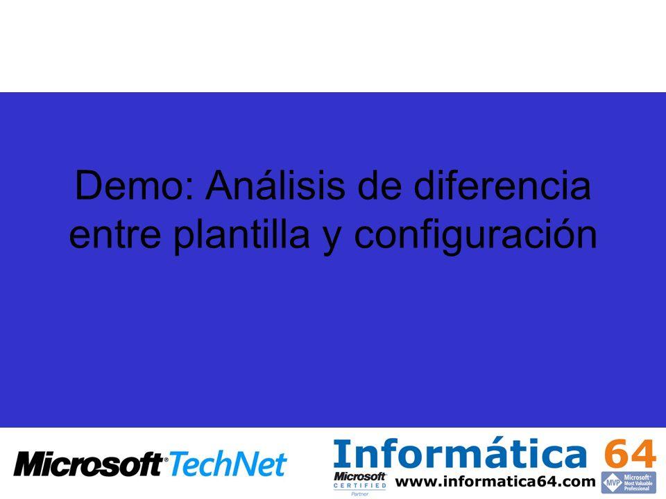 Demo: Análisis de diferencia entre plantilla y configuración