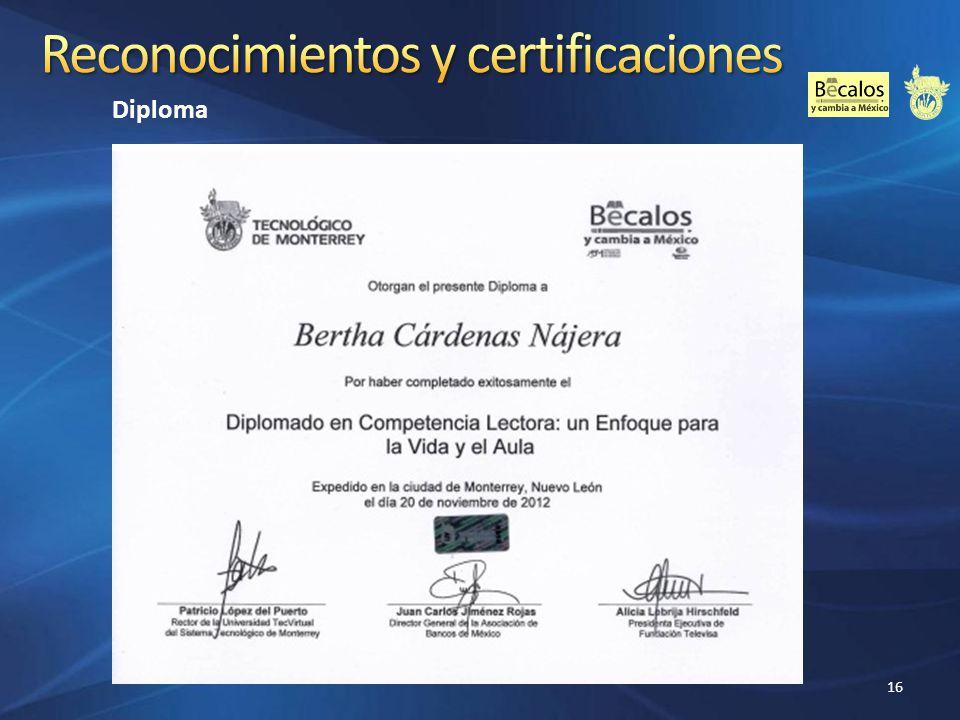 Reconocimientos y certificaciones