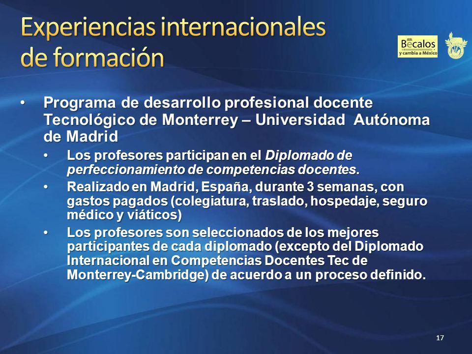 Experiencias internacionales de formación