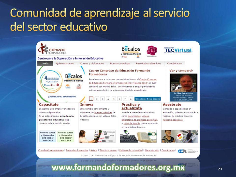 Comunidad de aprendizaje al servicio del sector educativo