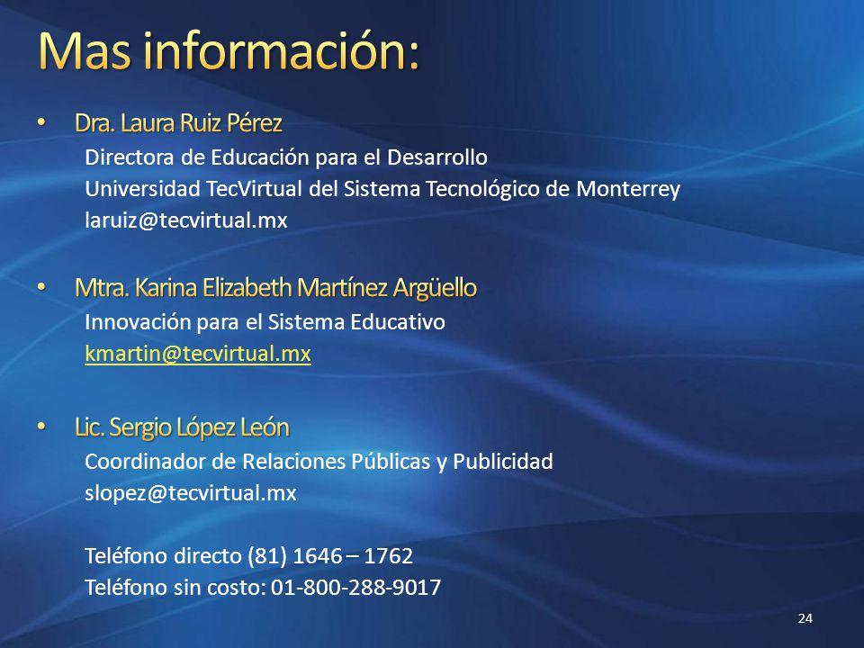 Mas información: Dra. Laura Ruiz Pérez