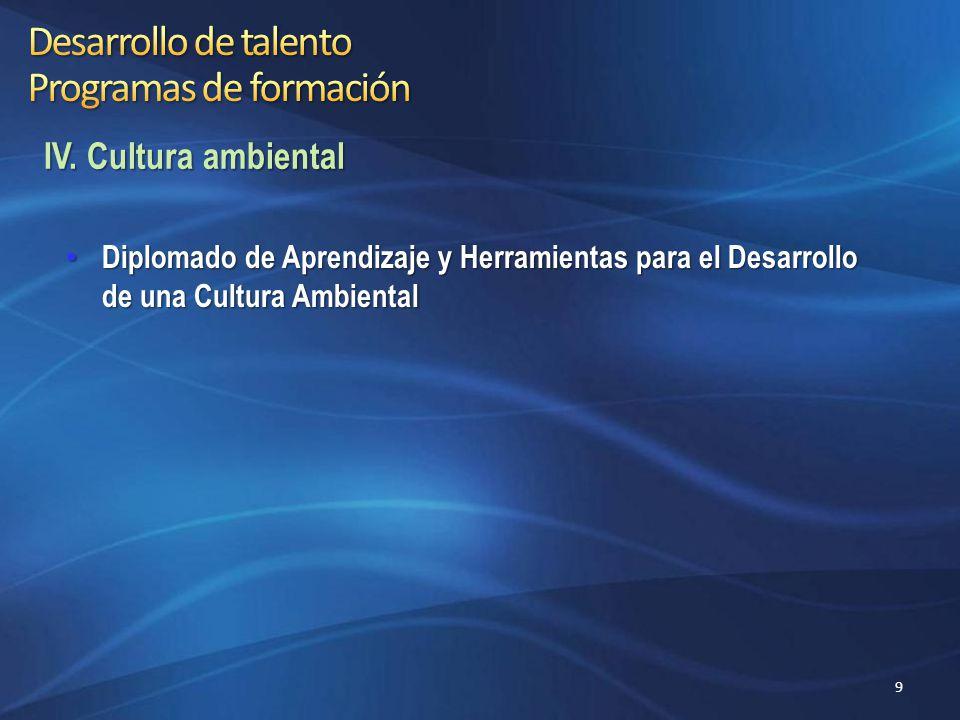 Desarrollo de talento Programas de formación