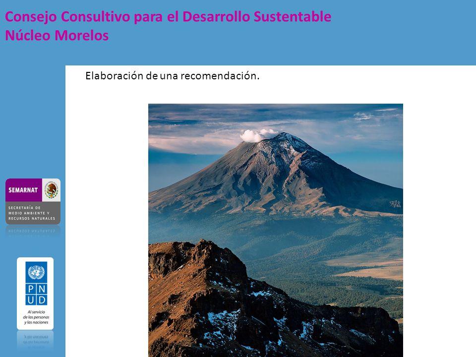Consejo Consultivo para el Desarrollo Sustentable Núcleo Morelos