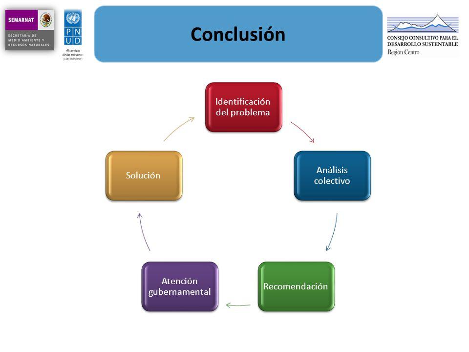 Conclusión Identificación del problema Análisis colectivo Solución