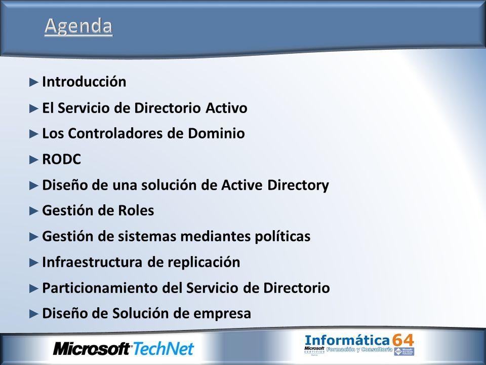 Agenda Introducción El Servicio de Directorio Activo