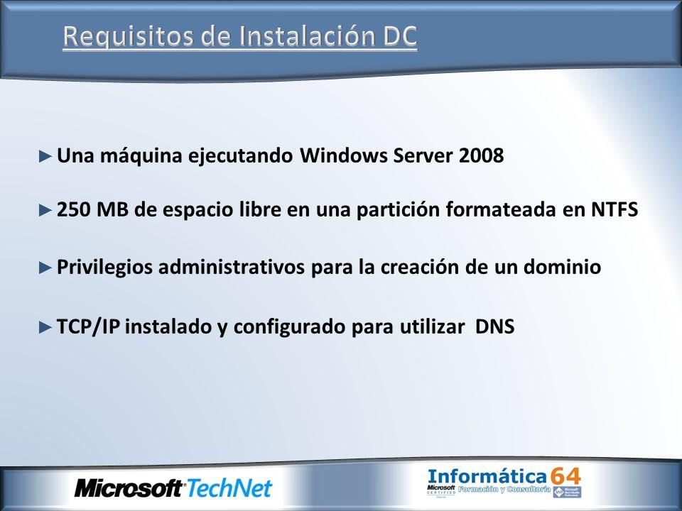 Requisitos de Instalación DC
