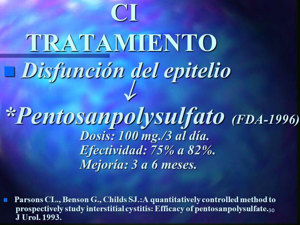*Pentosanpolysulfato (FDA-1996):
