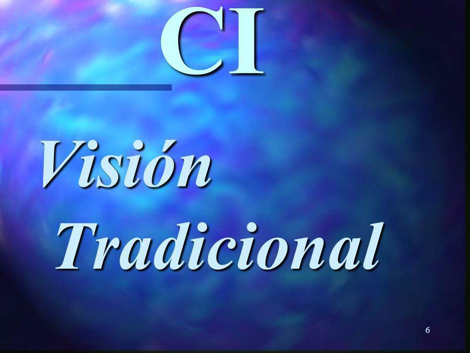 CI Visión Tradicional
