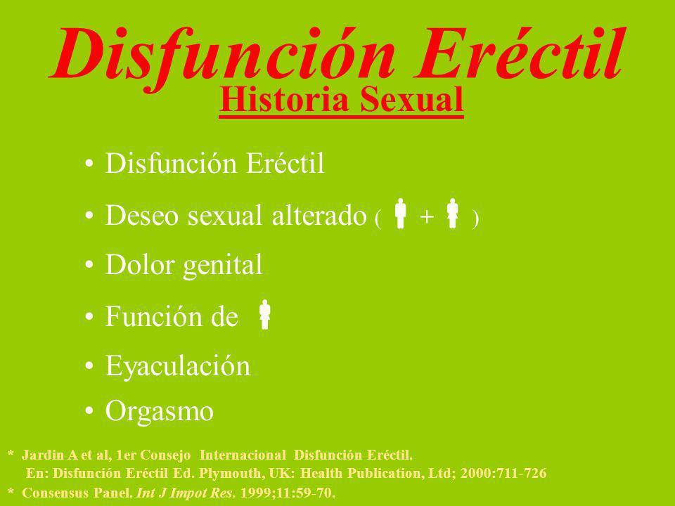 Disfunción Eréctil Historia Sexual Disfunción Eréctil