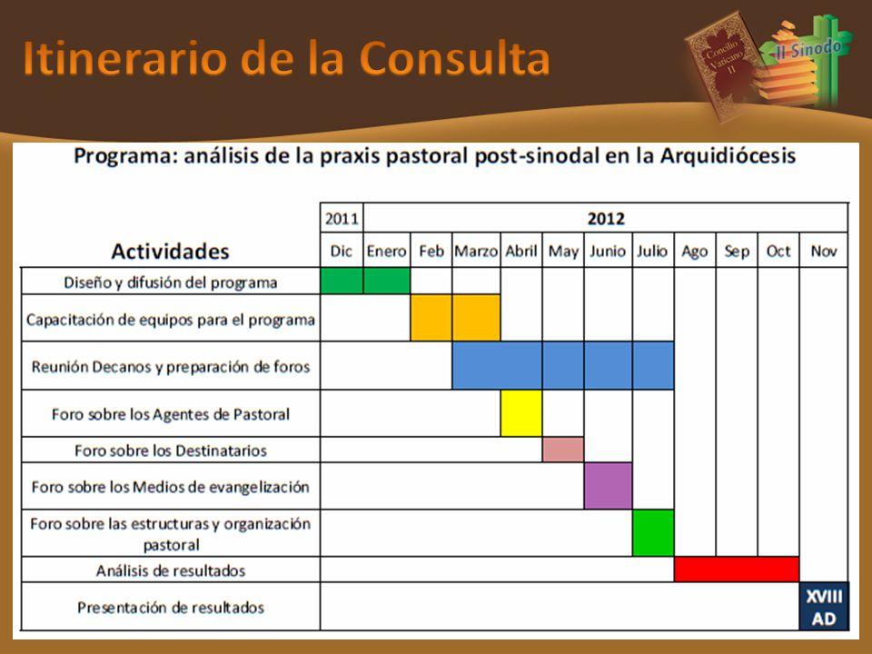 Itinerario de la Consulta