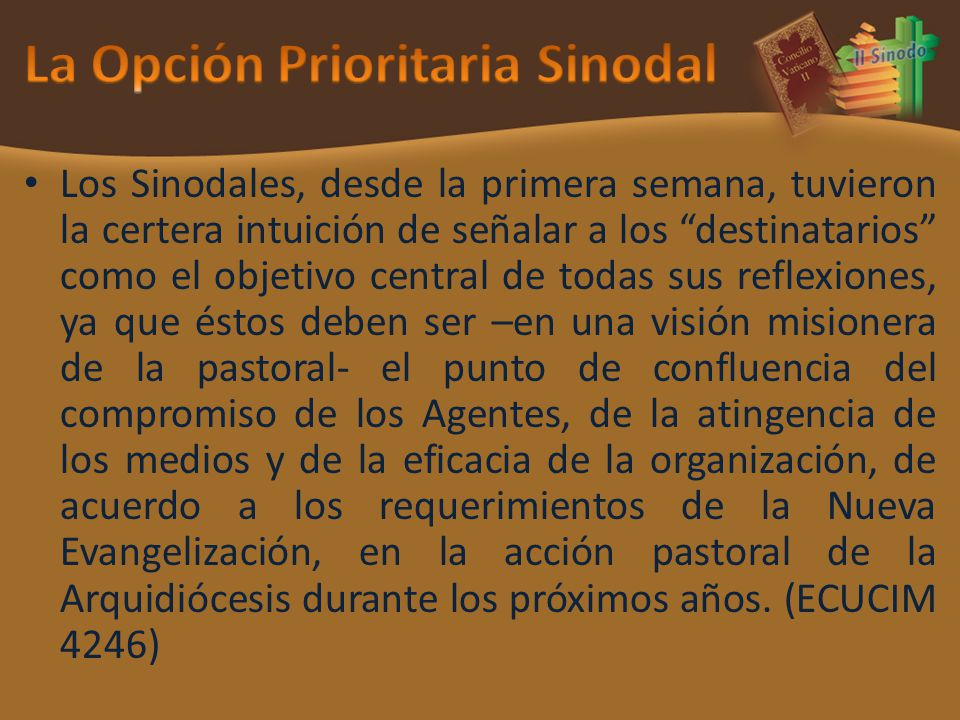 La Opción Prioritaria Sinodal