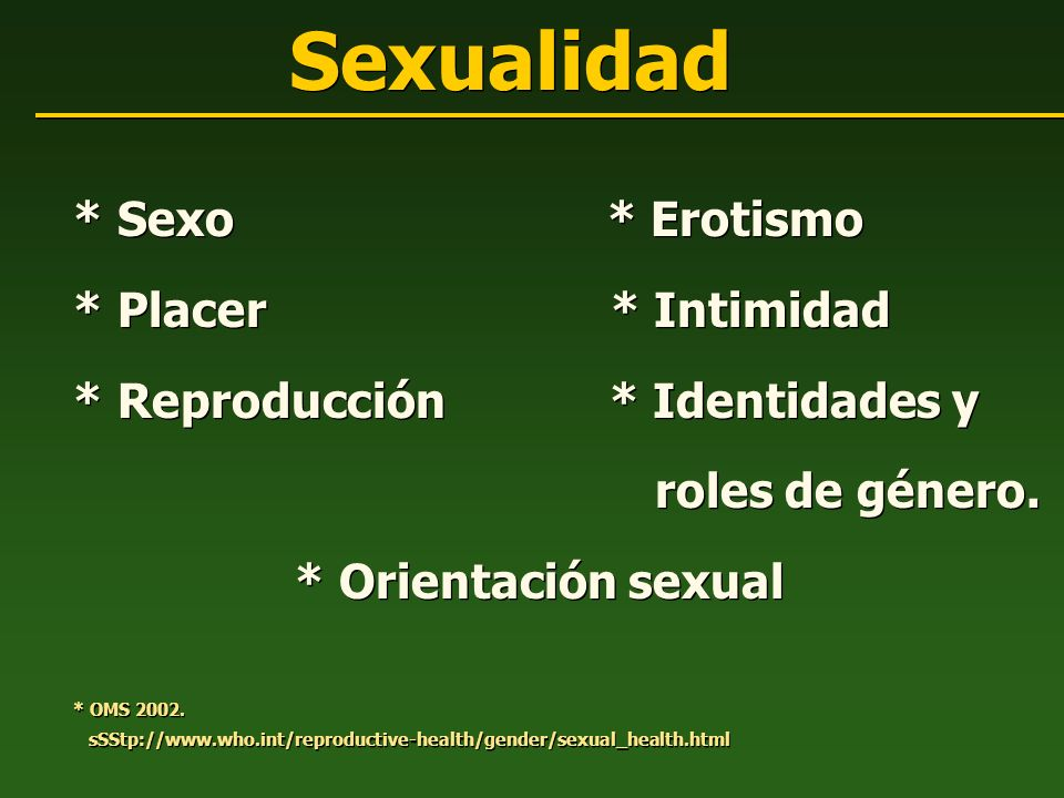 Sexualidad * Sexo * Erotismo * Placer * Intimidad