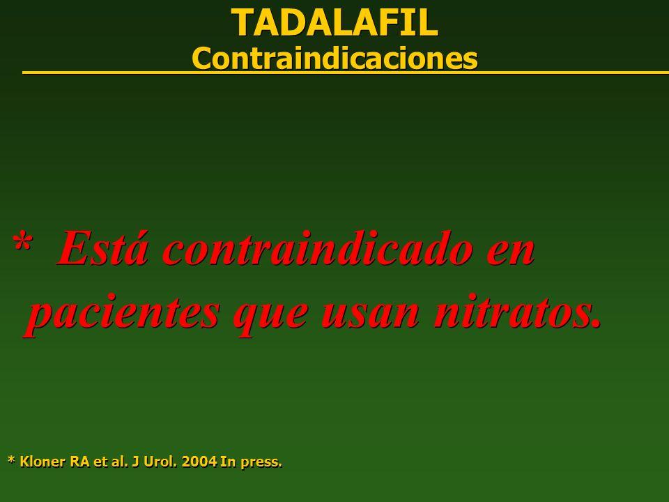 TADALAFIL Contraindicaciones