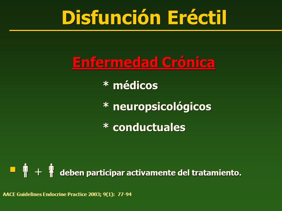 Disfunción Eréctil +deben participar activamente del tratamiento.
