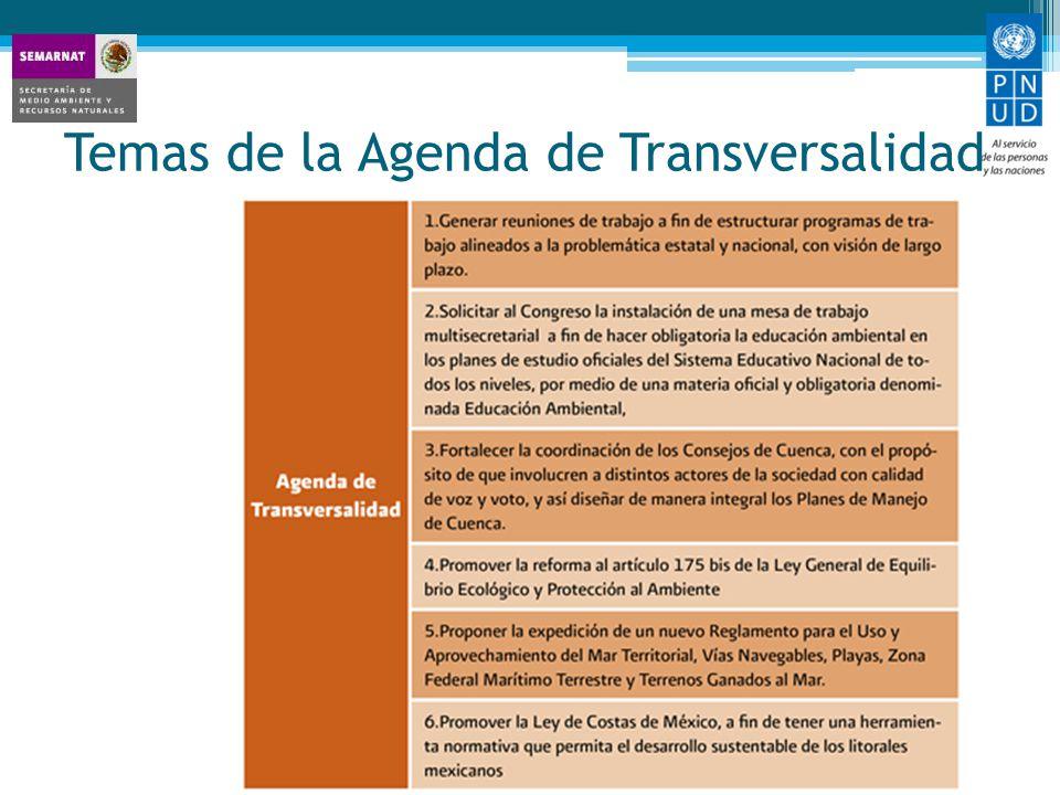 Temas de la Agenda de Transversalidad