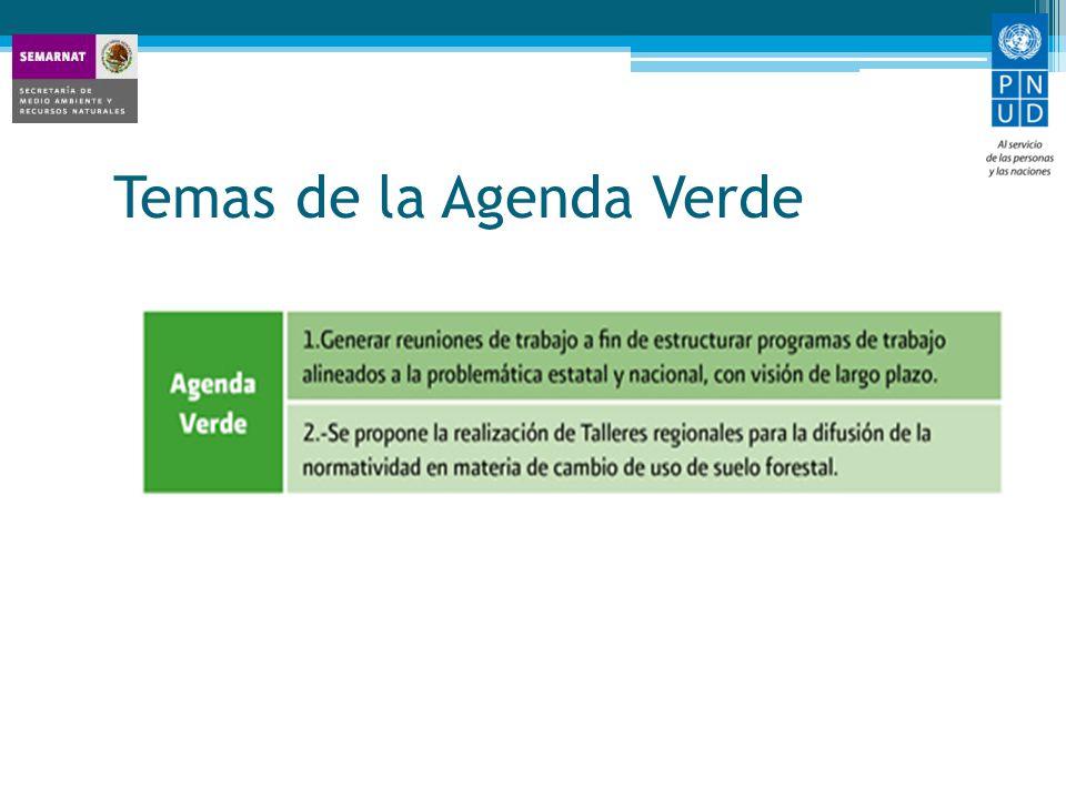 Temas de la Agenda Verde