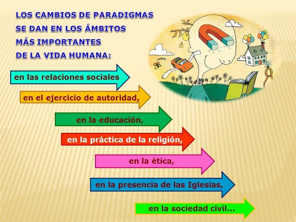 LOS CAMBIOS DE PARADIGMAS SE DAN EN LOS ÁMBITOS MÁS IMPORTANTES
