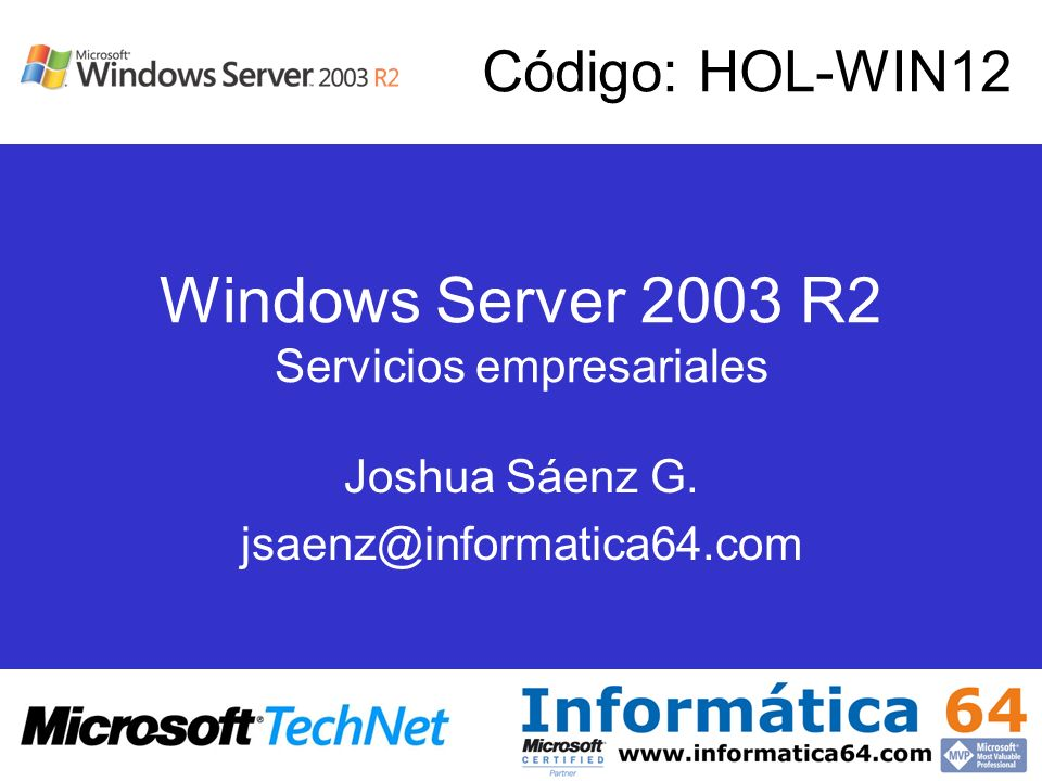 Windows Server 2003 R2 Servicios empresariales
