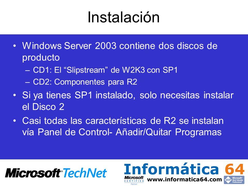 Instalación Windows Server 2003 contiene dos discos de producto