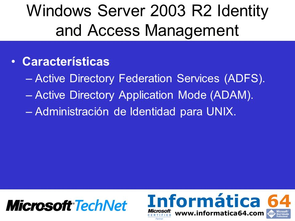 Windows Server 2003 R2 Identity and Access Management
