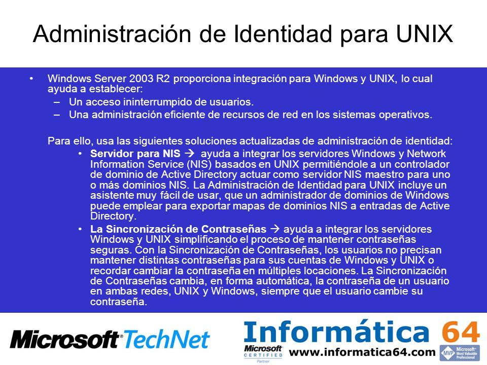 Administración de Identidad para UNIX