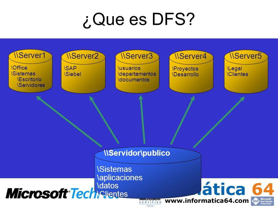 ¿Que es DFS \\Server1 \\Server2 \\Server3 \\Server4 \\Server5