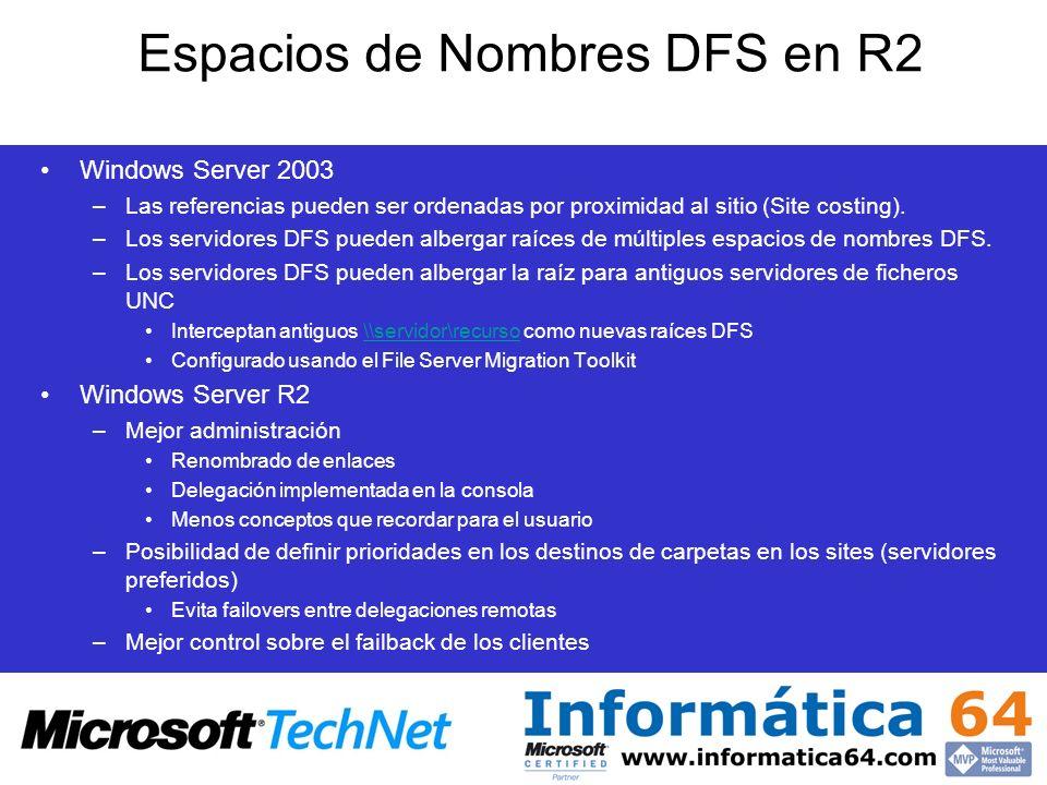 Espacios de Nombres DFS en R2
