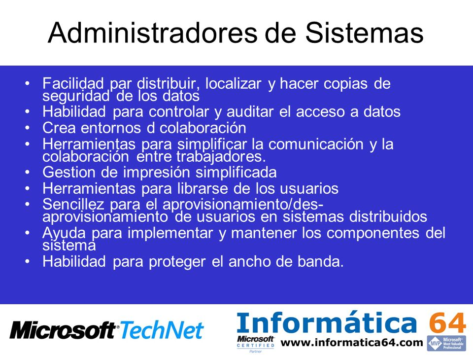 Administradores de Sistemas
