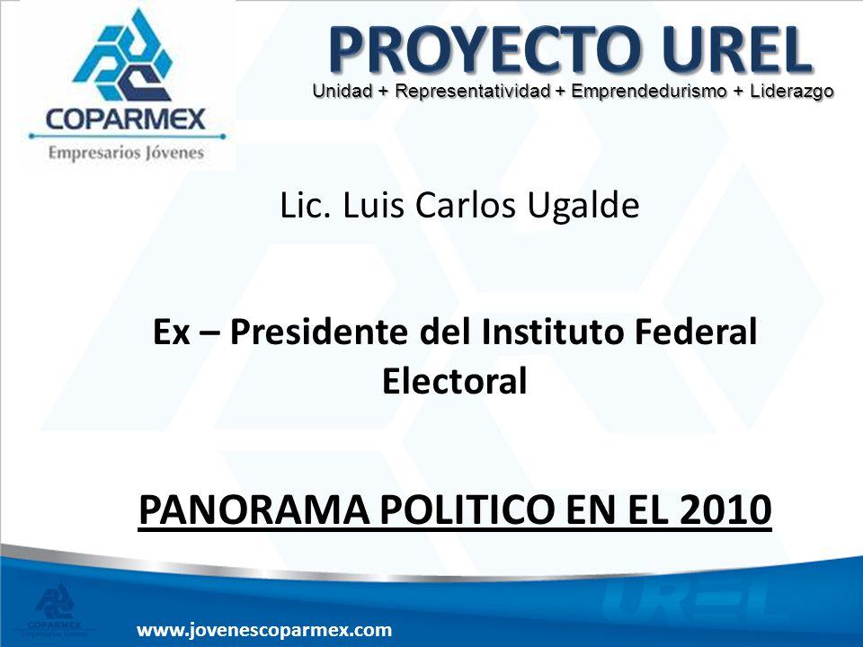 Proyecto UREL PANORAMA POLITICO EN EL 2010 Lic. Luis Carlos Ugalde