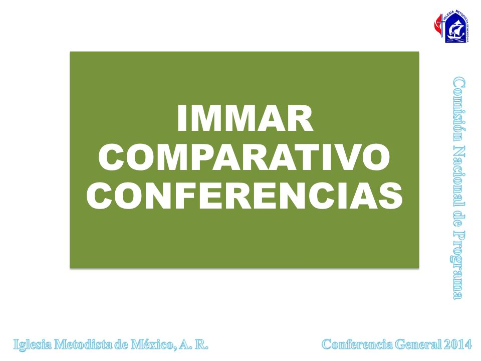 IMMAR COMPARATIVO CONFERENCIAS