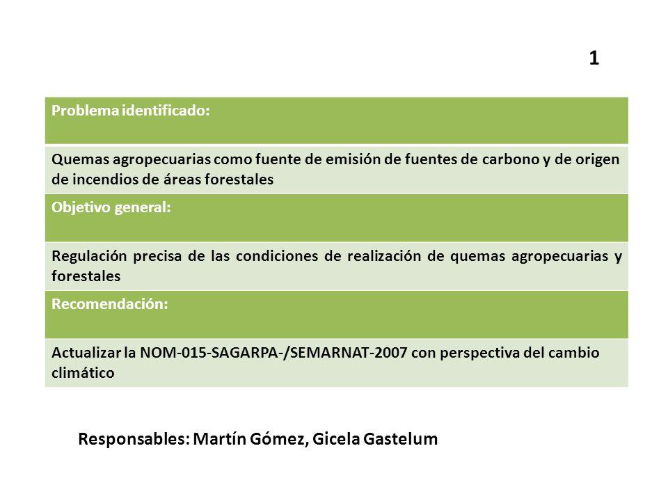 1 Responsables: Martín Gómez, Gicela Gastelum Problema identificado: