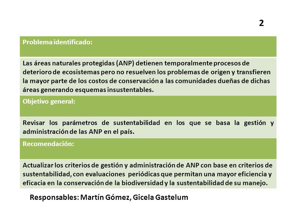 2 Responsables: Martín Gómez, Gicela Gastelum Problema identificado: