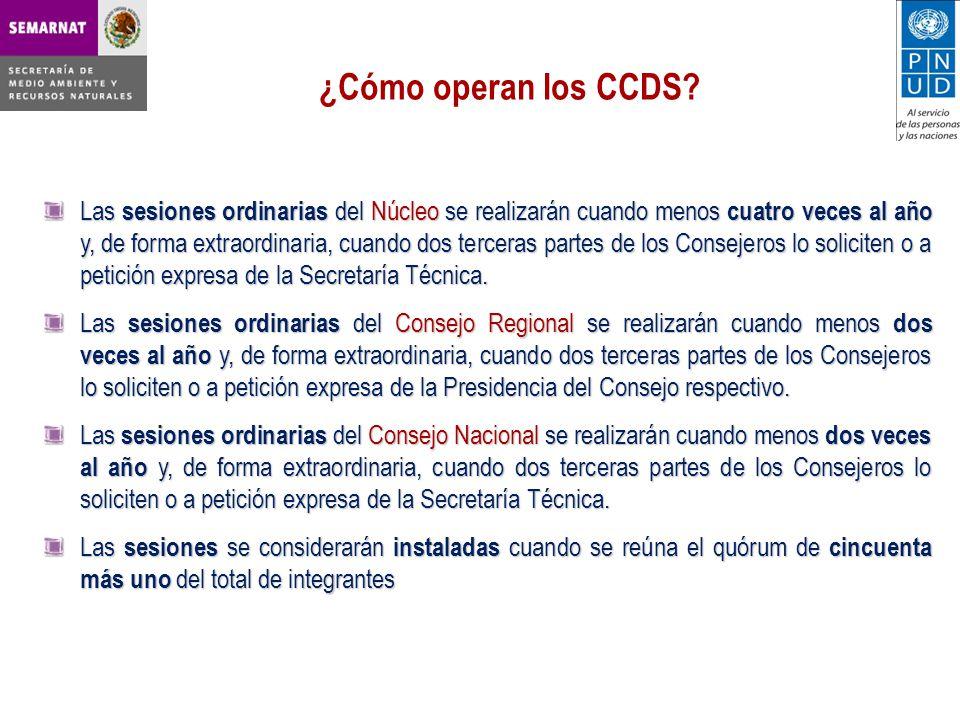 ¿Cómo operan los CCDS