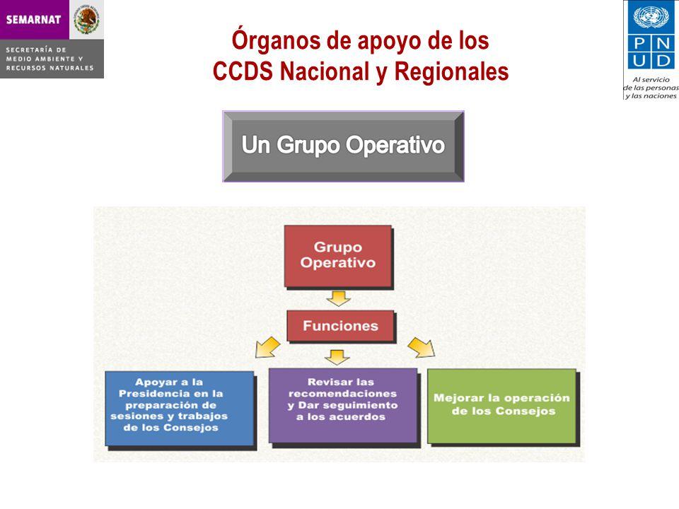 CCDS Nacional y Regionales