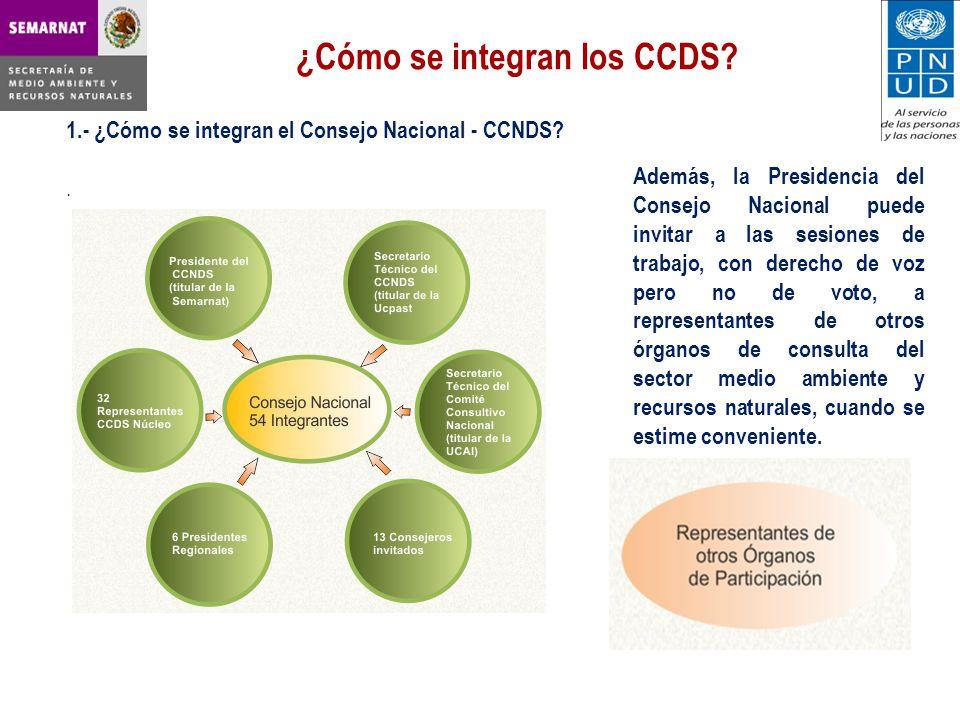 ¿Cómo se integran los CCDS