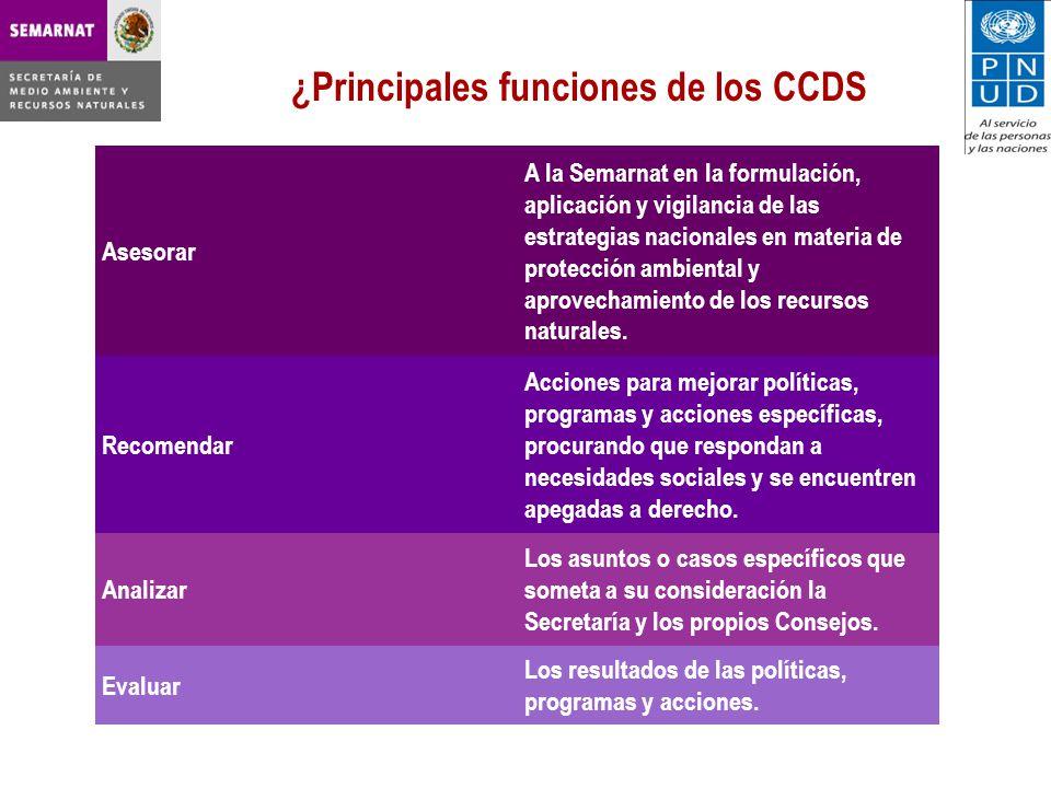 ¿Principales funciones de los CCDS